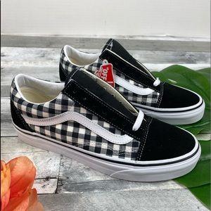 Vans gingham suede shoes old Skool 7.5 W